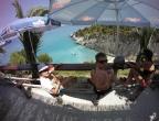 Plaża Xigia - naturalne spa siarkowe na Zakynthos - tawerna na klifie - dobre jedzenie + piękne widoki