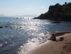Plaża Dafni - zbliża się wieczór