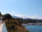 Cameo Islet - bar na szczycie wyspy - widok w kierunku lądu