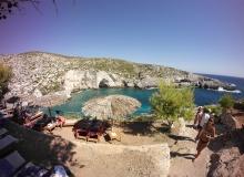 Porto Limnionas, Zakynthos - nad zatoką jest przyjemna tawerna