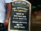 Przylądek Keri - punkt widokowy tylko dla klientów tawerny