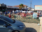 plaża w centrum Laganas z hotelami dochodzącymi do samej plaży