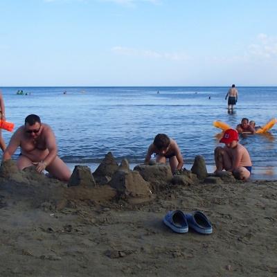 plaża Laganas - piasek jak nad Bałtykiem - miękki, żółty, czysty