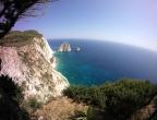 Przylądek Keri - widok z klifów przy latarni morskiej