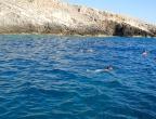 Porto Roxi, Zakynthos - głęboka zatoka bez plaży, ale wspaniale nadaje się do skoków do wody