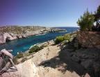 Porto Limnionas, Zakynthos - nad wodą zatoki jest przyjemna tawerna