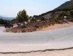 kręte drogi na Zakynthos w rejonie Mikro Nissi