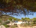 małe parkingi i miejsca widokowe przy drogach na Zakynthos